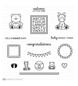 Mama Elephant NURSERY DECO stamp set