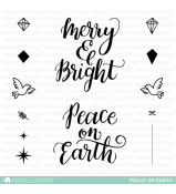 Mama Elephant PEACE ON EARTH stamp set