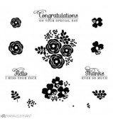 Mama Elephant WATER BLOOMS stamp set
