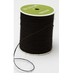 May Arts Burlap String 20 yards - BLACK