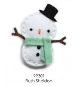 Memory Box Plush Sheldon snowman die set