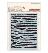 October Afternoon Silent Night Birch stamp