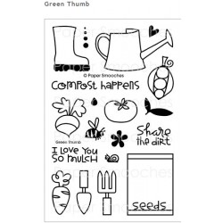 Paper Smooches Green Thumb stamp set