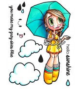 Some Odd Girl Umbrella Gwen stamp set