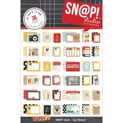 Simple Stories Say Cheese Card Pack double-sided