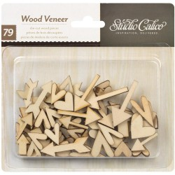 Studio Calico Hearts & Arrows Wood Veneers