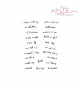 Studio L2E Hi-light it Banners SENTIMENTS stamp set