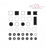 Studio L2E ICONIC OUTLINES planner stamp set