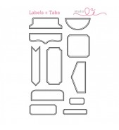 Studio L2E Labels and Tabs Shape stamp set