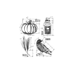 Tim Holtz Halloween Blueprint 2 stamp set CMS 167 Stampers Anonymous