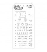 Tim Holtz Layered Stencil EYE CHART THS 010