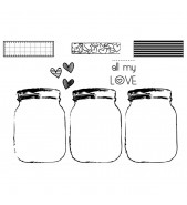 Unity Stamps: Jars of Love X3